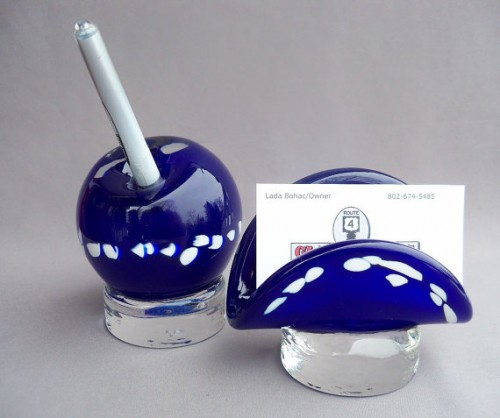 blown-glass-desk-set