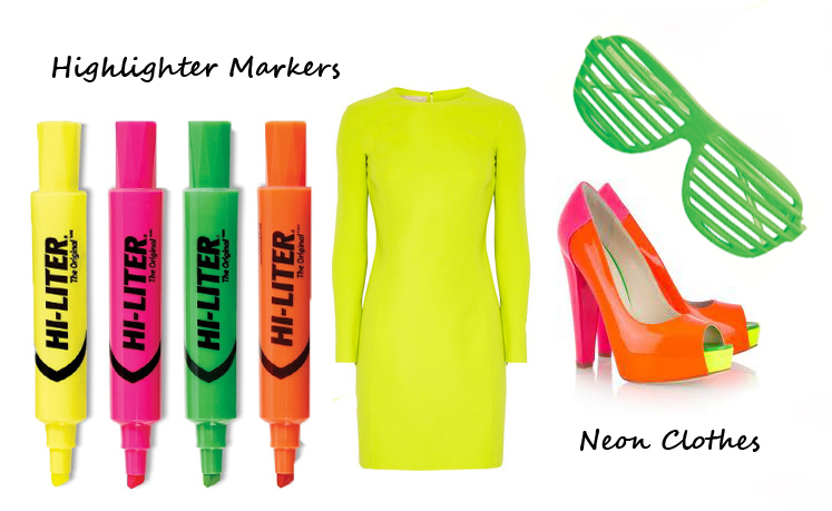 Shoplet Fashionable Office Supplies Highlighter Markers and Neon Clothes