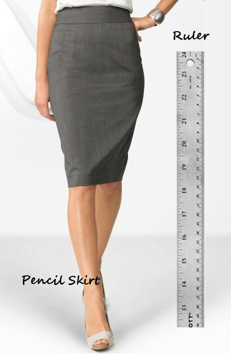 Shoplet Fashionable Office Supplies Ruler and Pencil Skirt