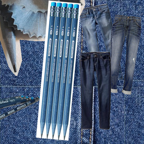 recycled denim pencils Recycled Denim Pencils