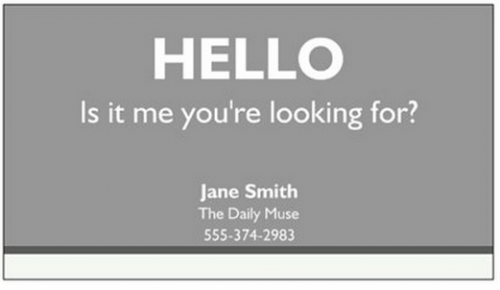 singing business cards 500x290 Best of Office Weekend Roundup 99