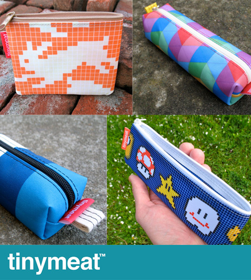 tinymeat pencil cases Tinymeat Pencil Pouches
