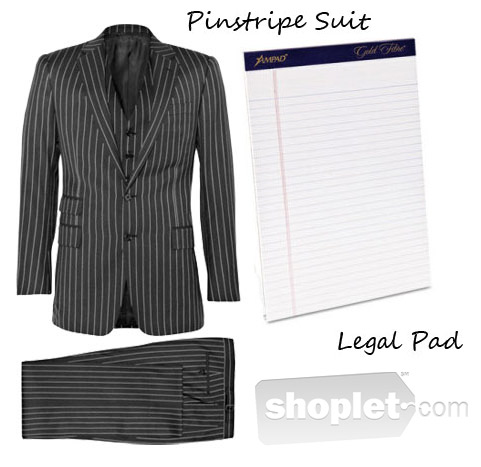 Shoplet Fashionable Office Supplies Legal Pad Pinstripe Suit Fashionable Office Supplies