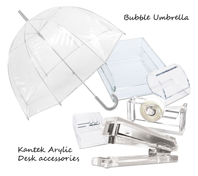 Shoplet-Fashionable-Office-Supplies-bubble-umbrella-and-Kantek-desk-accessories