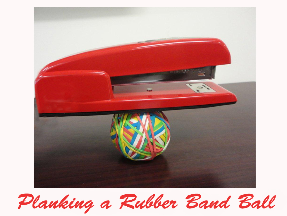 Shoplet Planking Red Stapler Rubberband