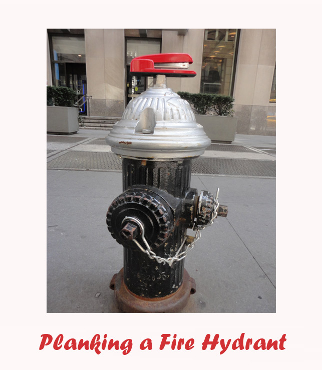 Shoplet Planking Red Stapler Fire Hydrant