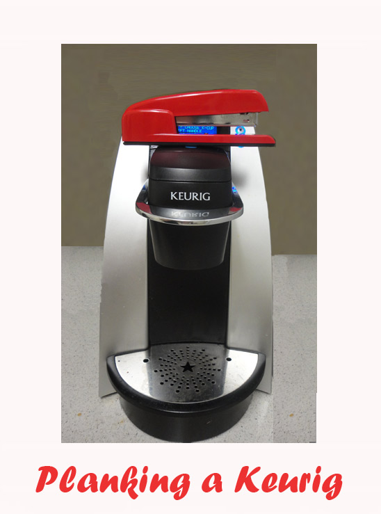 Shoplet Planking Red Stapler Keurig