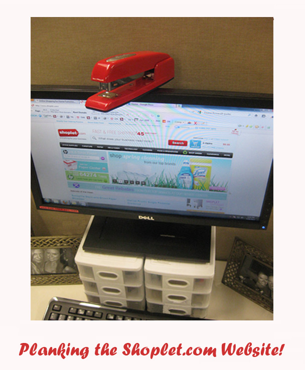 Shoplet Planking Red Stapler Website