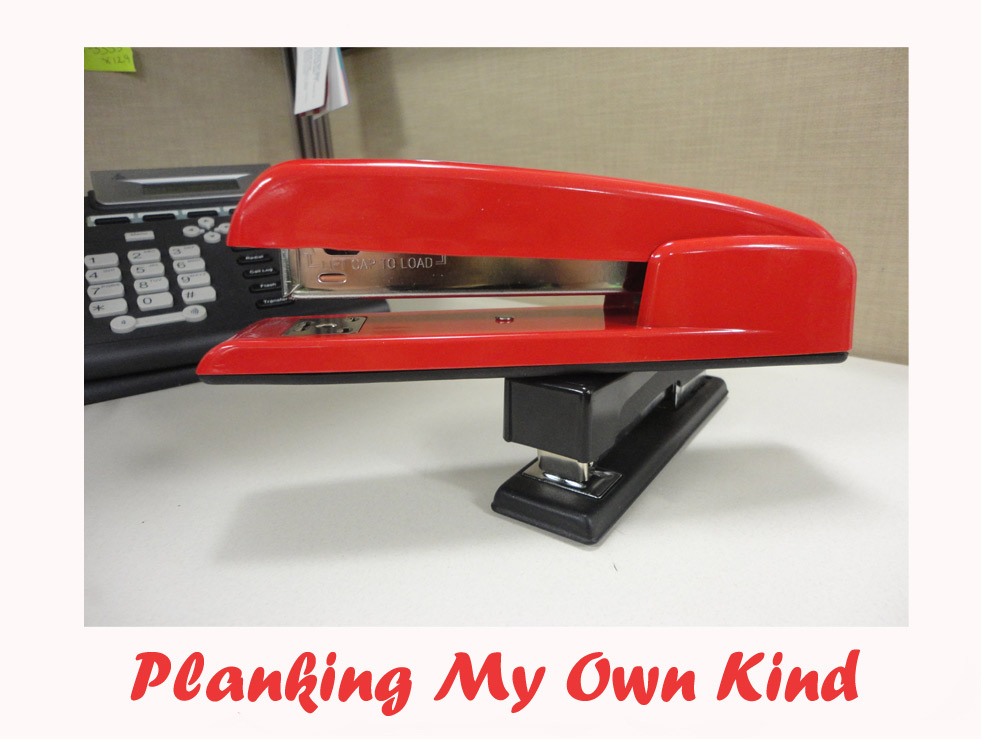 Shoplet Planking Red Stapler