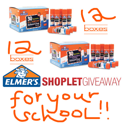 elmers shoplet school giveaway Win Elmers Glue Sticks for Your School!