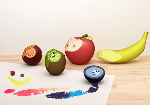 fruit crayons 500x353 3 Projects by Cheng Tsung