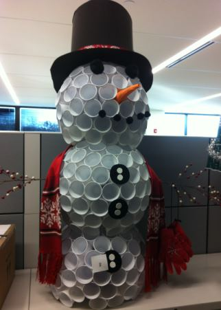 solo cup snowman From the Solo Cup Facebook Page