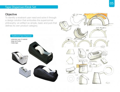 tape designer sketches 500x386 New Tape Dispenser