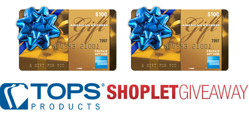 tops shoplet amex gift card giveaway Two $100 AMEX Gift Cards from TOPS!