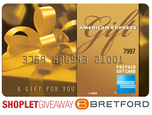 bretford american express giveaway Win a Gift Card from Bretford!