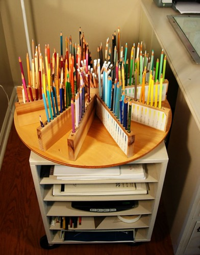lazy susan pencil organizer 392x500 Best of Office Weekend Roundup 107