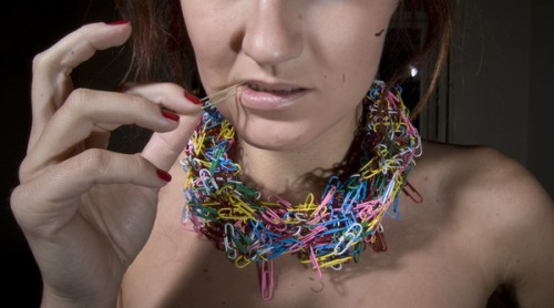 paper clip necklace multi colored 500x278 Paper Clip Chokers