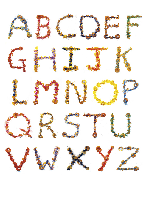 pencil shavings alphabet1 Hooray for Pencil Shavings!