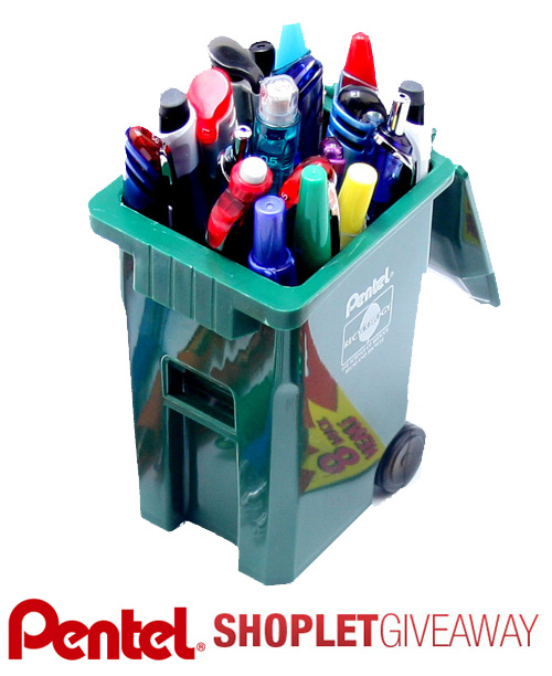pentel recycology giveaway Win a Recycling Bin Full of Pentel Products!