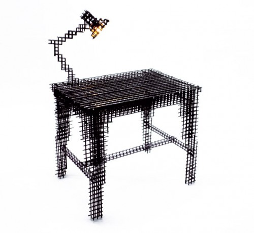wire mesh desk 500x460 Best of Office Weekend Roundup 105