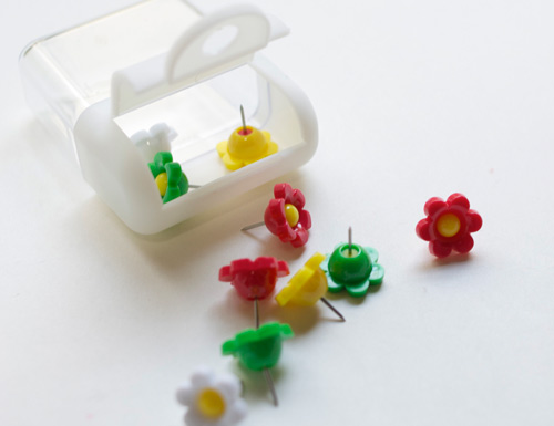 yamada flower pins Four Supplies from Yamada Stationery