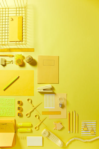 yellow-office-supplies