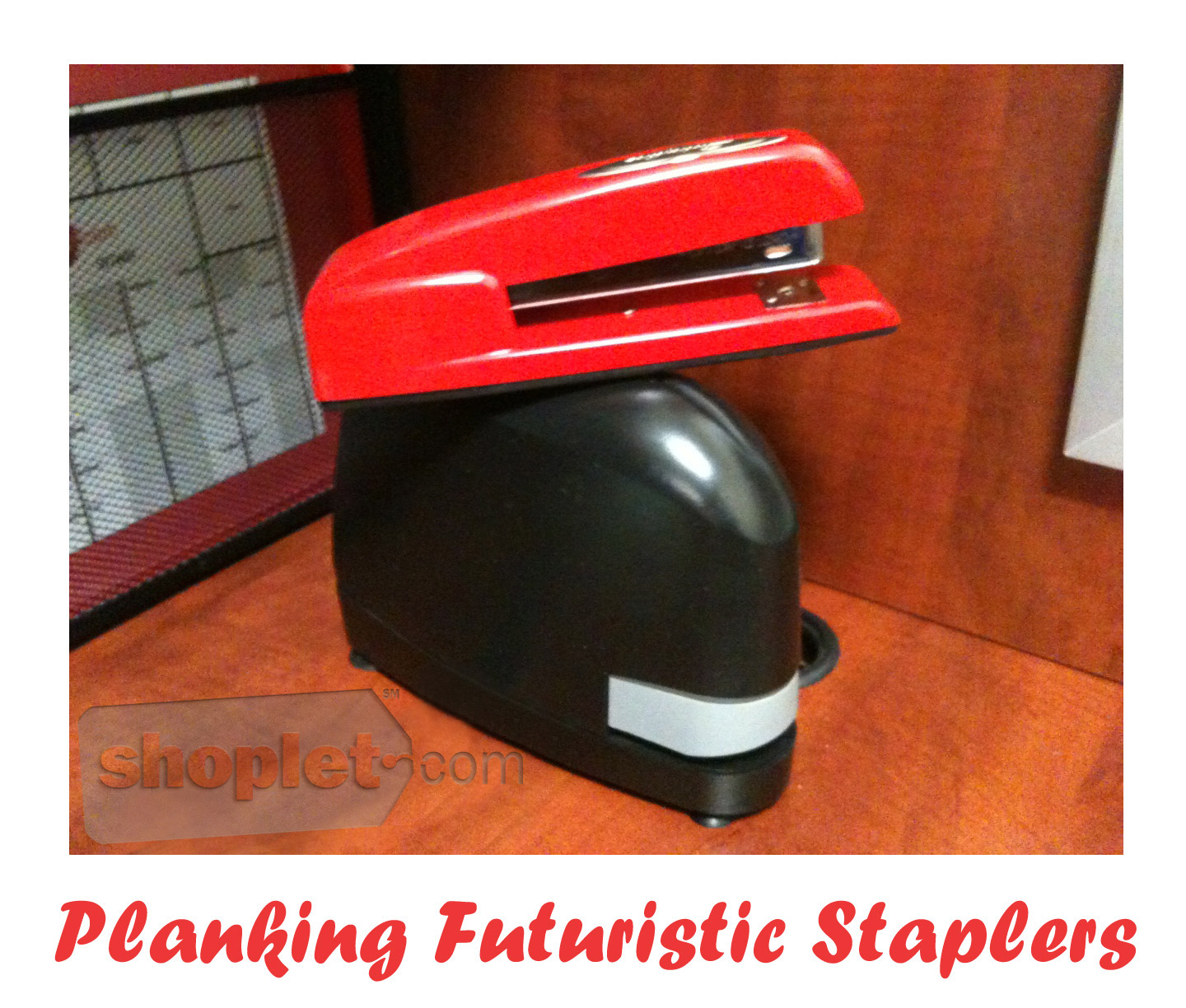 Shoplet Planking Futuristic Stapler1 Shoplet Planking Stapler Planks on Futuristic Stapler 