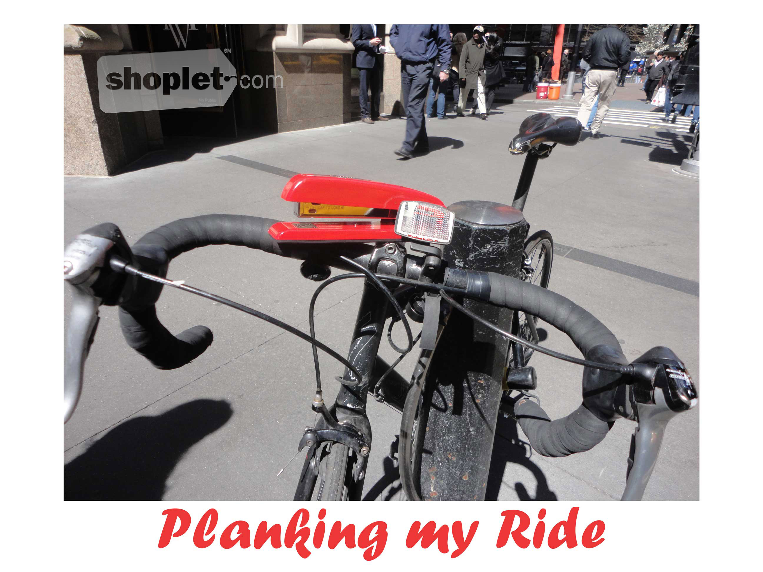 Shoplet Planking Stapler Bike Shoplet Planking Stapler Planks on a Bike