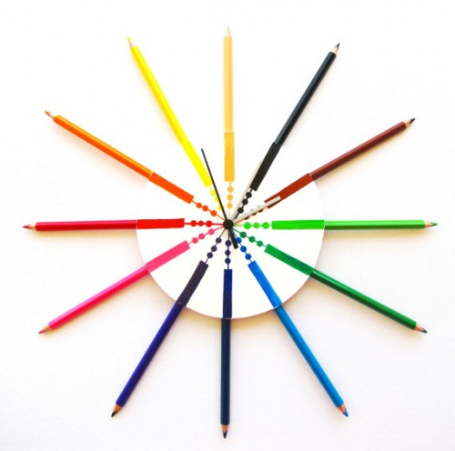 color pencil clock 500x496 Two Pencil Clocks