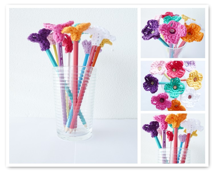 crocheted-flower-pencil-tops