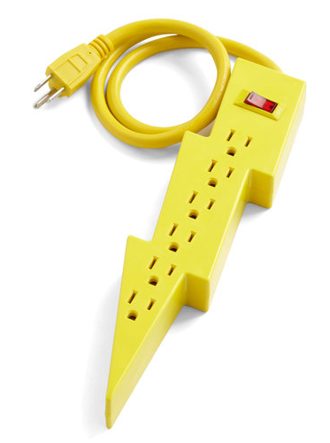modcloth lightning bolt power strip Best of Office Weekend Roundup 112