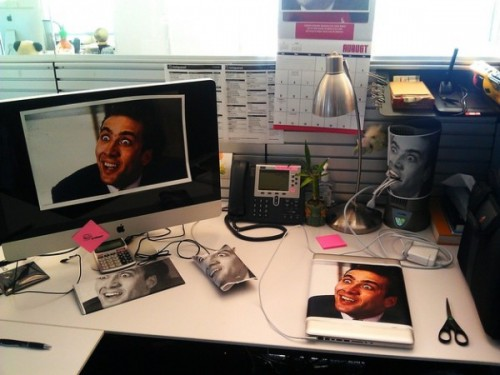 nic cage office prank 500x375 Best of Office Weekend Roundup 112
