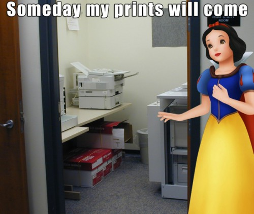snow white at the office 500x422 Best of Office Weekend Roundup 109