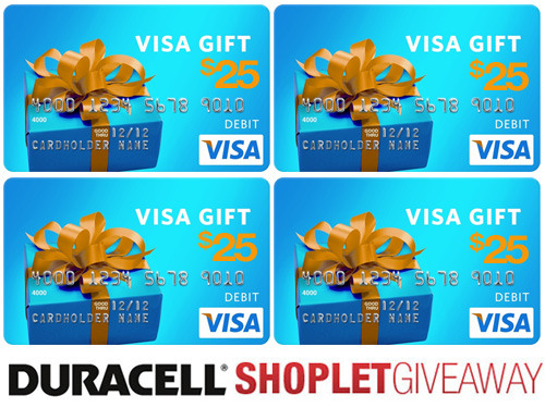duracell visa gift card shoplet giveaway Duracell Visa Gift Card Giveaway!