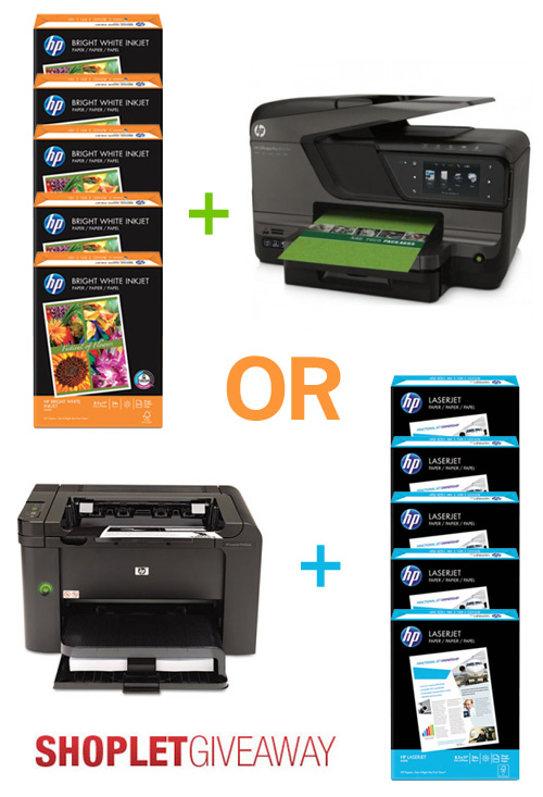 hp paper and printer giveaway Two HP Printers + 10 Reams of HP Paper to WIN!