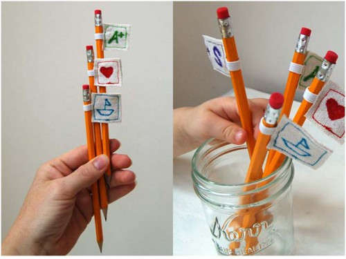 stitched pencil toppers 500x375 Best of Office Weekend Roundup 116