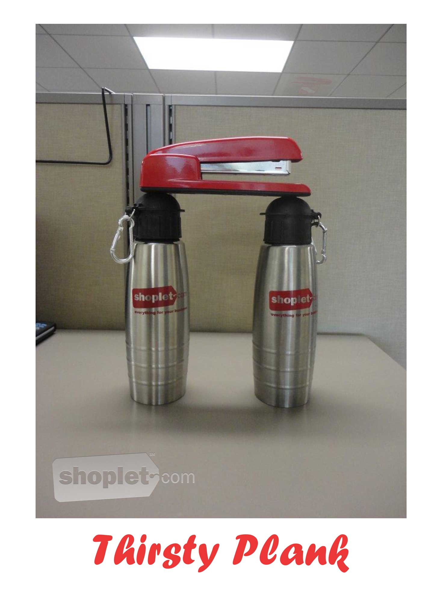 Shoplet Planking Stapler Planks Water Bottles