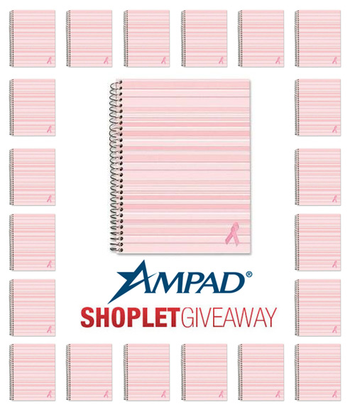 ampad pink planner shoplet giveaway 20 Pink Ampad Project Planners to Win!