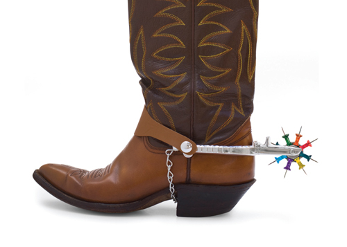 brian hoffman cowboy boots thumbtacks Office Supplies + Random Objects