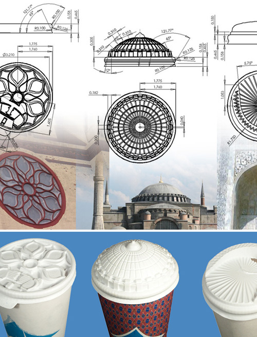 coffee cups inspired by turkish architecture Turkish Architecture on Your Lid
