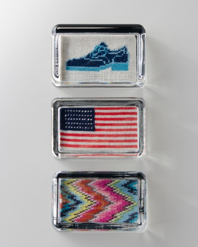 jonathan adler needlepoint paper weights 400x500 Best of Office Weekend Roundup 121