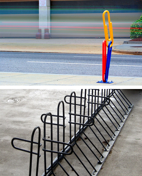 paper clip bike rack Paper Clip Bike Racks