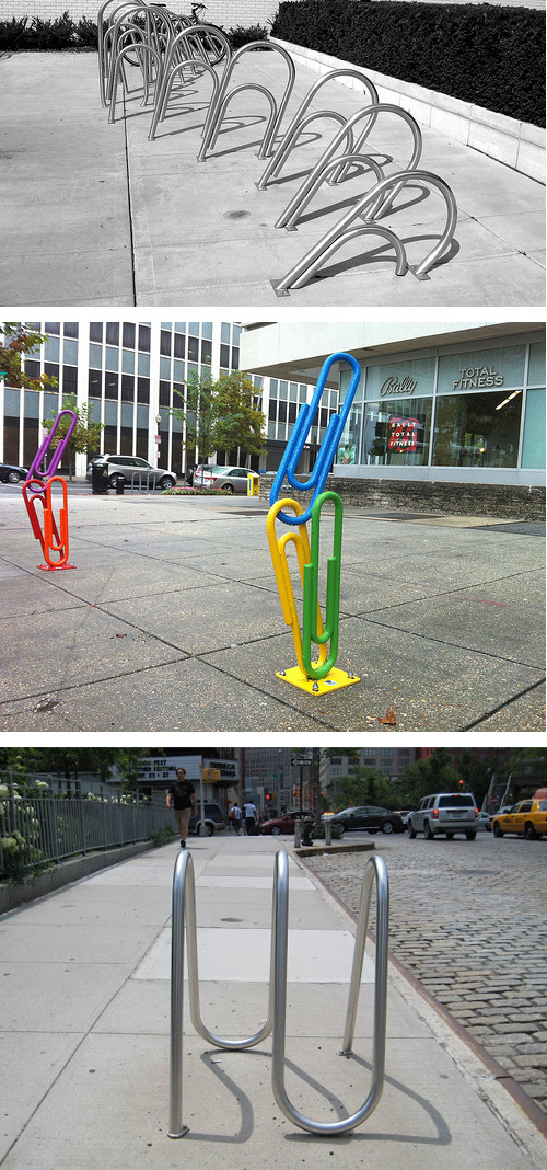 paper clip bike racks 2 Paper Clip Bike Racks