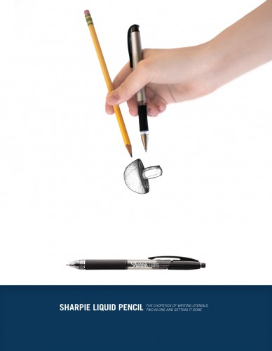 sharpie liquid pencil ads 388x500 Sharpie Liquid Pencil Ads
