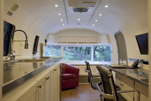 tw pitchers airstream office Working in an Airstream Trailer