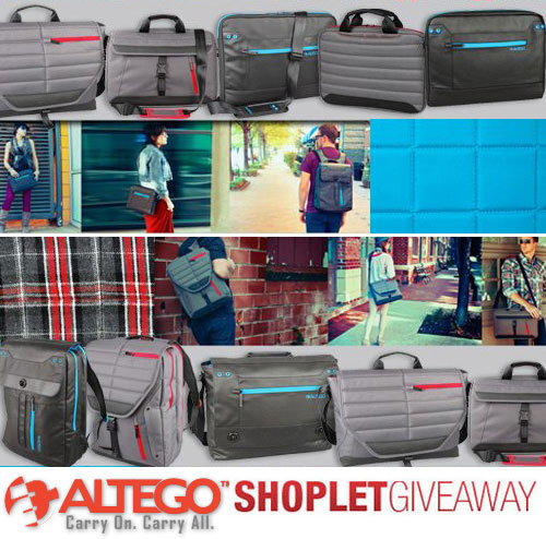 altego shoplet giveaway 5 Altego Laptop Bags to Win!