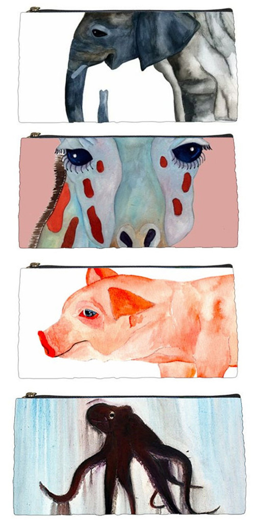 animal pencil cases heavenly creatures art Animal Pencil Cases