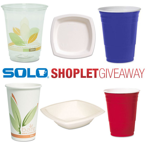 solo cup shoplet giveaway Win Cups, Bowls and Plates from Solo!