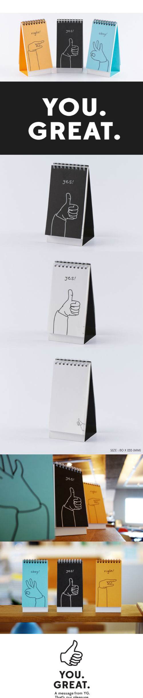 YOU GREAT BLANK VER 11 Encouraging Notebooks