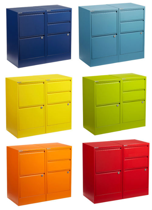 bisley file cabinets A Rainbow of File Cabinets